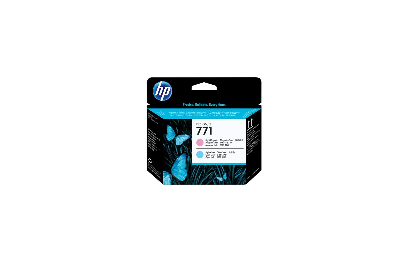Картридж струйный HP CE019A светло-голубой/светло-пурпурный печатающая головка для HP DJ Z6200