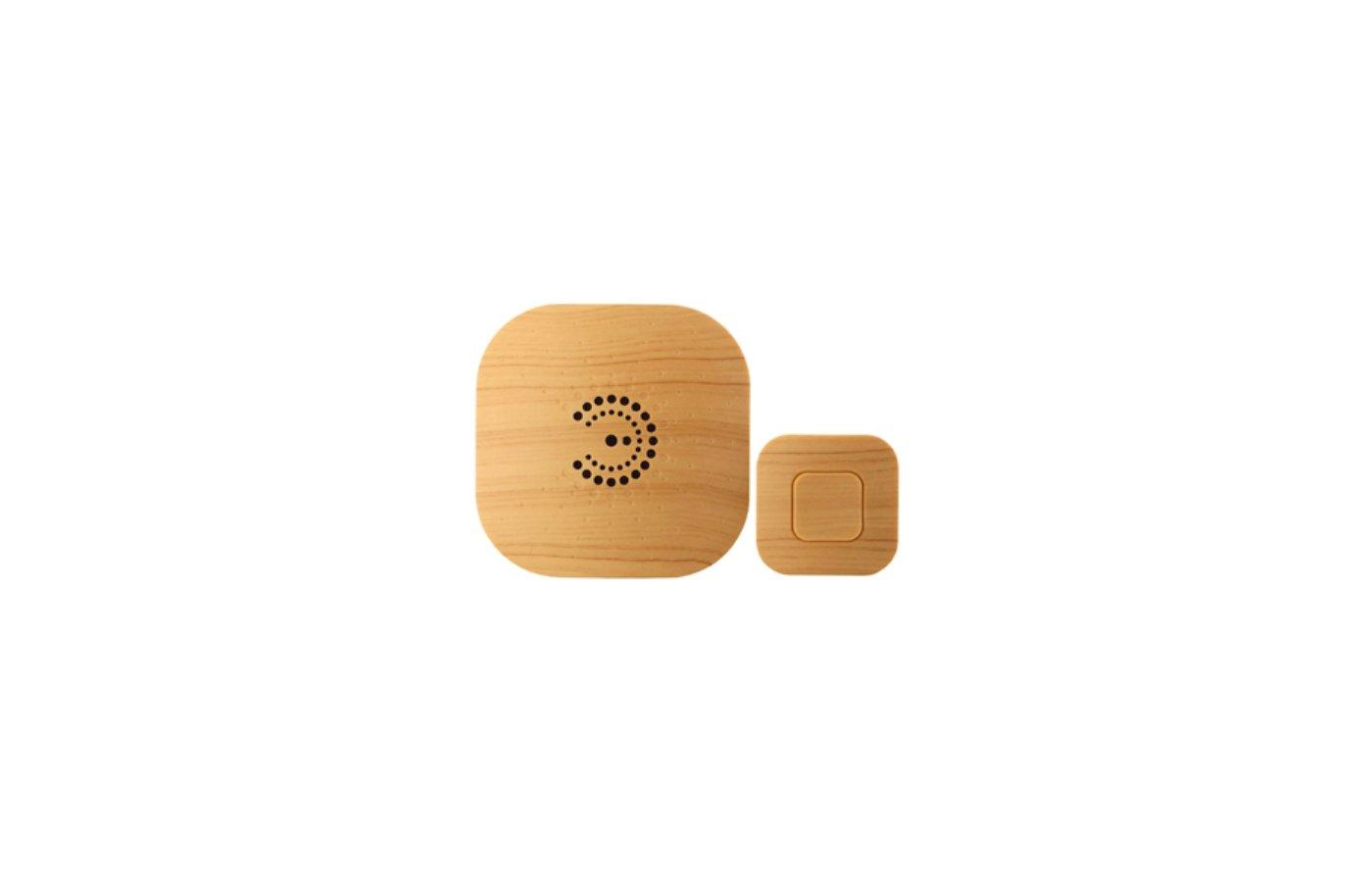 Дверной звонок ЭРА BIONIC Bright wood беспроводной