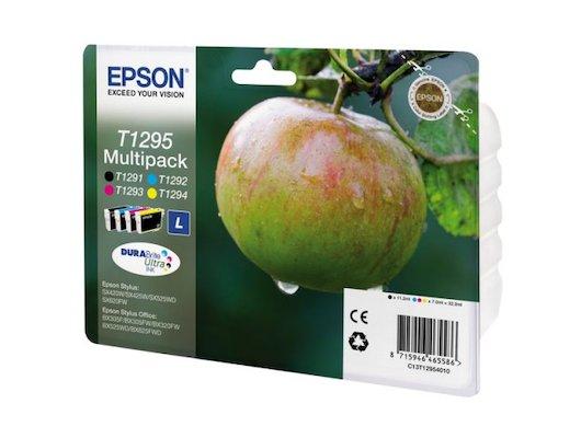 Картридж струйный Epson C13T12954010 черн.+голубой+пурпурн.+желт. для St SX420/425/525/620/BX305F