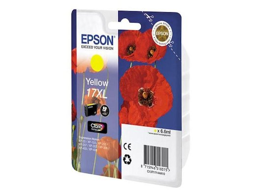 Картридж струйный Epson C13T17144A10 XL yellow для XP33/203/303 (450 стр)