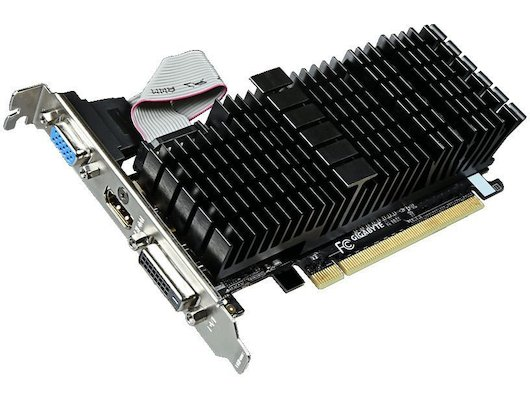 Видеокарта Gigabyte PCI-E GV-N710SL-2GL nVidia GeForce GT 710 2048Mb 64bit Ret low profile