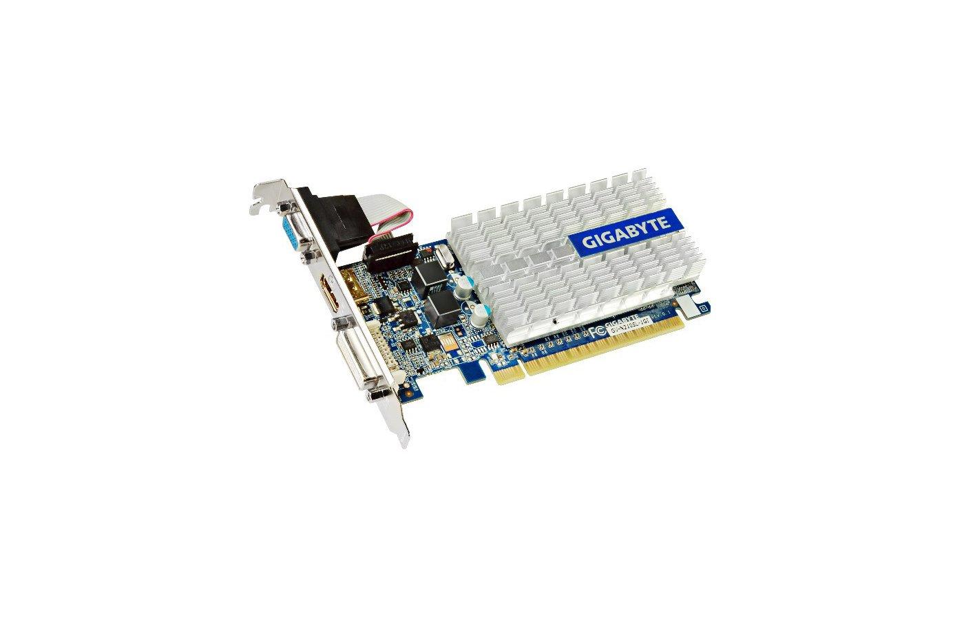 Видеокарта Gigabyte PCI-E GV-N210SL-1GI nVidia GeForce 210 1024Mb 64bit Ret