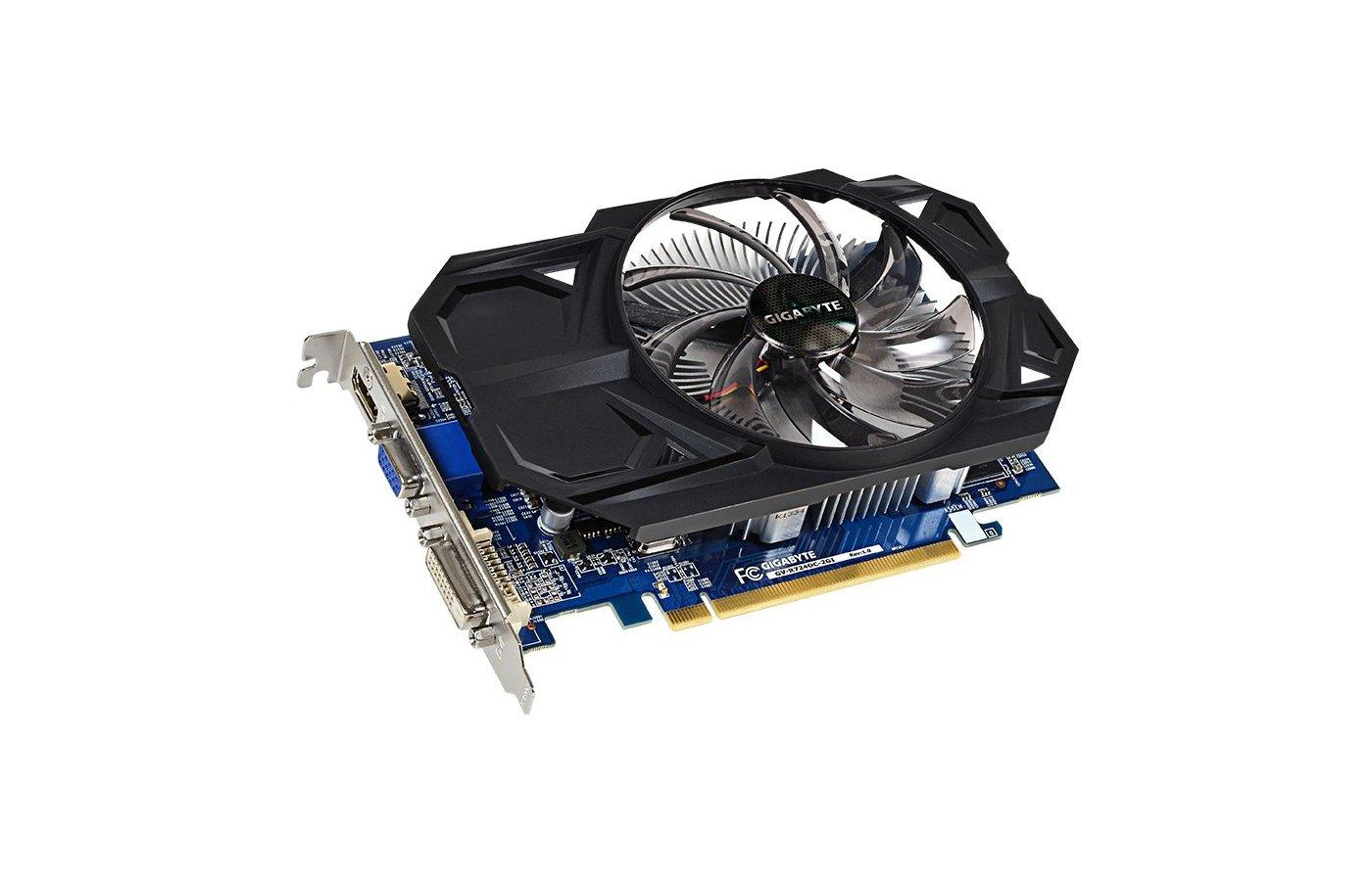 Видеокарта Gigabyte PCI-E GV-R724OC-2GI AMD Radeon R7 240 2048Mb 128bit Ret