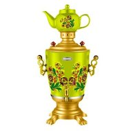 Чайник электрический  ЭЛИС ЭЛ-4023 зеленый цветы