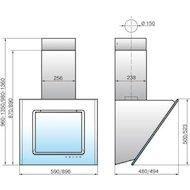 Вытяжка ELIKOR Оникс ART-90П-1000-Е4Г оранжевый/апельсин