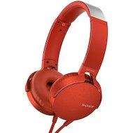 Наушники полноразмерные Sony MDR-XB550AP красный