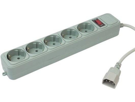 Сетевой фильтр PC Pet AP01006-E-GR 1.8м белый 080814