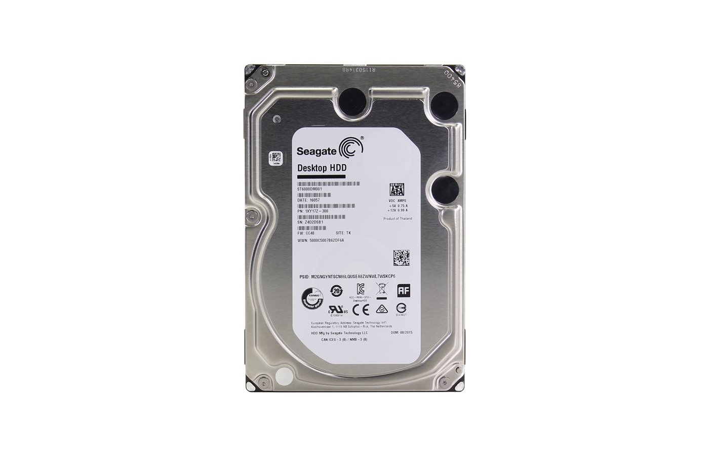 Жесткий диск Seagate ST6000DM001 SATA3 6Tb Barracuda 5900 RPM 128Mb