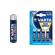 Батарейка Varta high energy aaа 4шт. lr03/4bl