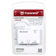 Фото Картридер Transcend All in 1 Multi White USB 2.0 Support SDHC (TS-RDP8W)