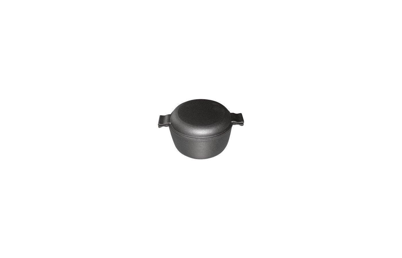 Кастрюля MALLONY CC-20/30 Кастрюля чугун. с крышкой-сковородой 20см 3л (985008)