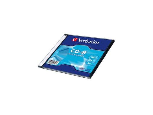 CD-диск Диск CD-R 700Mb Verbatim 52x Slim (1) 43347