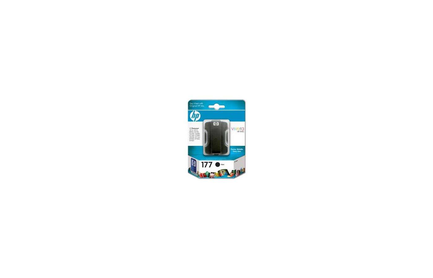 Картридж струйный HP 177 C8721HE черный для PhotoSmart 3213/3313/8253 (410стр.)