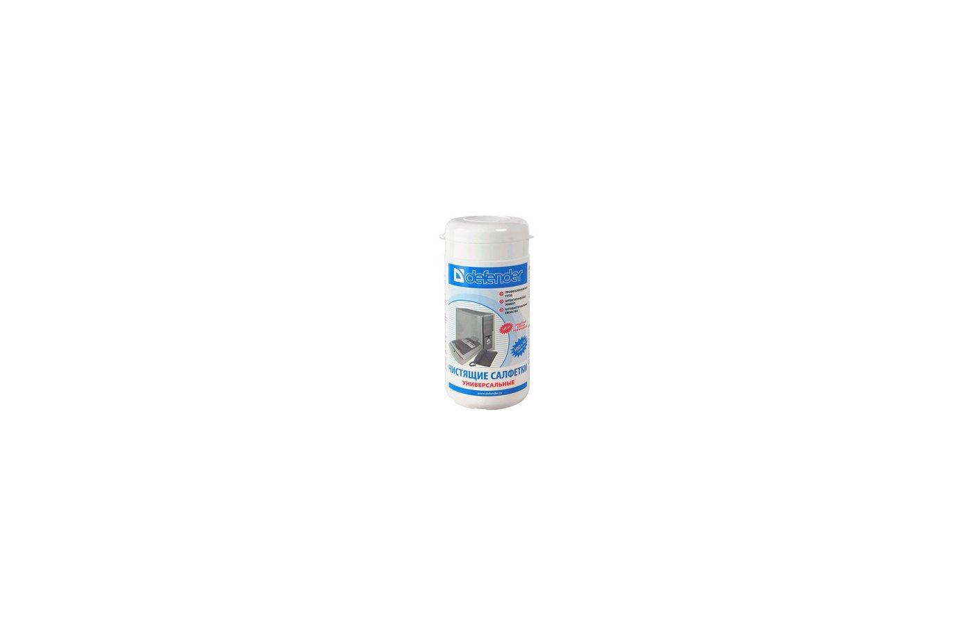 Чистящее средство Defender CLN30100 Салфетки чистящие влажные универсальные в тубе (110шт)