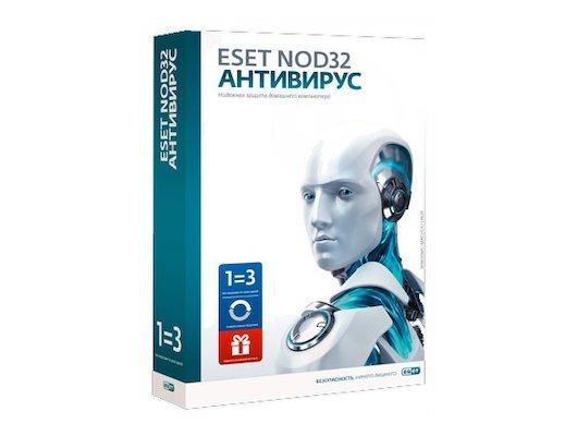 Компьютерное ПО ESET NOD32 Антивирус+Bonus+расшир.функц.-универ.лицензия на 1 год на 3ПК или продление на 20 мес.