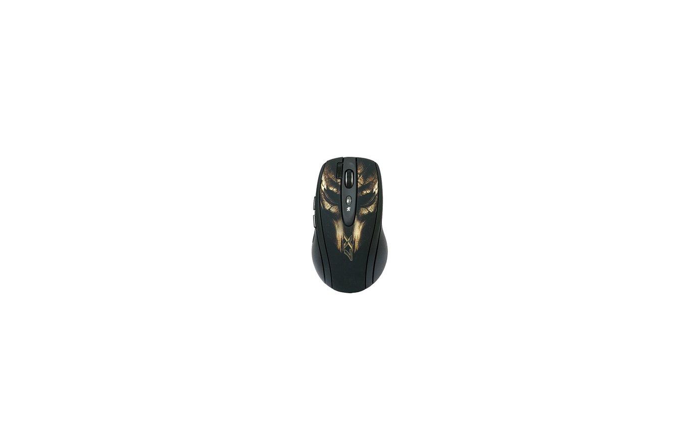 Мышь проводная A4Tech XL-750BH USB (черный+коричн) 6 кн 1 кл-кн 3600 dpi