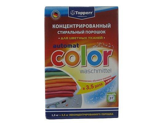 Средства для стирки и от накипи TOPPERR 3204 Стиральный порошок/коцентрат COLOR 1.5 кг