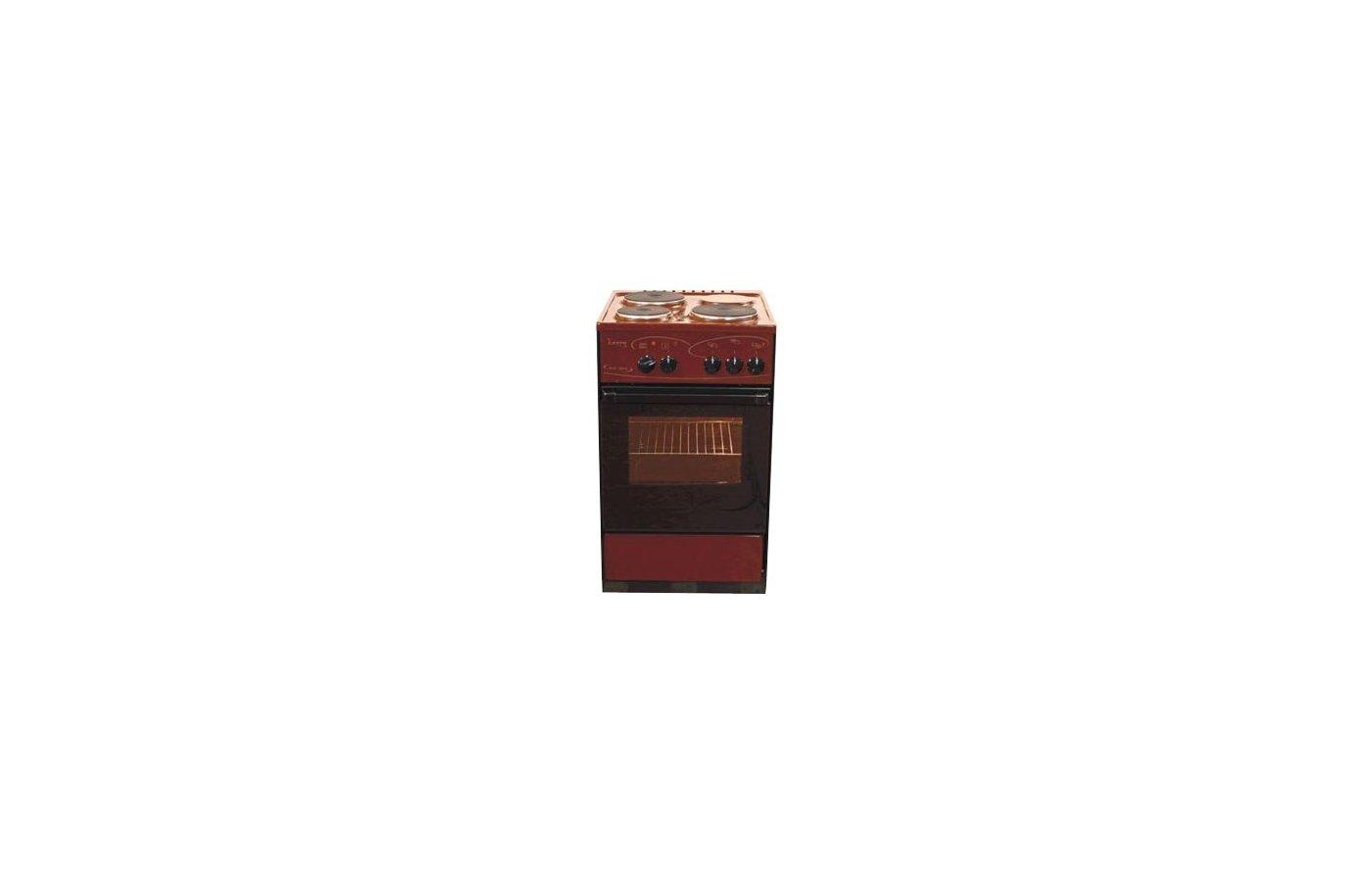 Плита электрическая ЛЫСЬВА ЭП 301 коричневая черное стекло