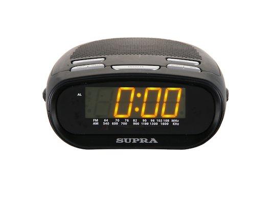 Настольные часы SUPRA SA-32FM black/amber