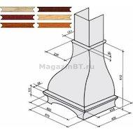 Аксессуар для в/о KRONA комплект багетов в упаковке для Gretta 600 CPB/2 (тем.дуб)