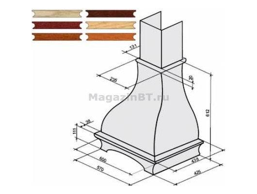 Аксессуар для в/о KRONA комплект багетов в упаковке для Serena CPB/3 (тем. орех)