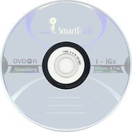 Фото DVD-диск Диск DVD-R SMART TRACK 4.7Gb 16x Slim (за 1 диск)