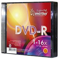 DVD-диск Диск DVD+R SMART BUY 4.7GB 16x SL-5 (за 1 диск)