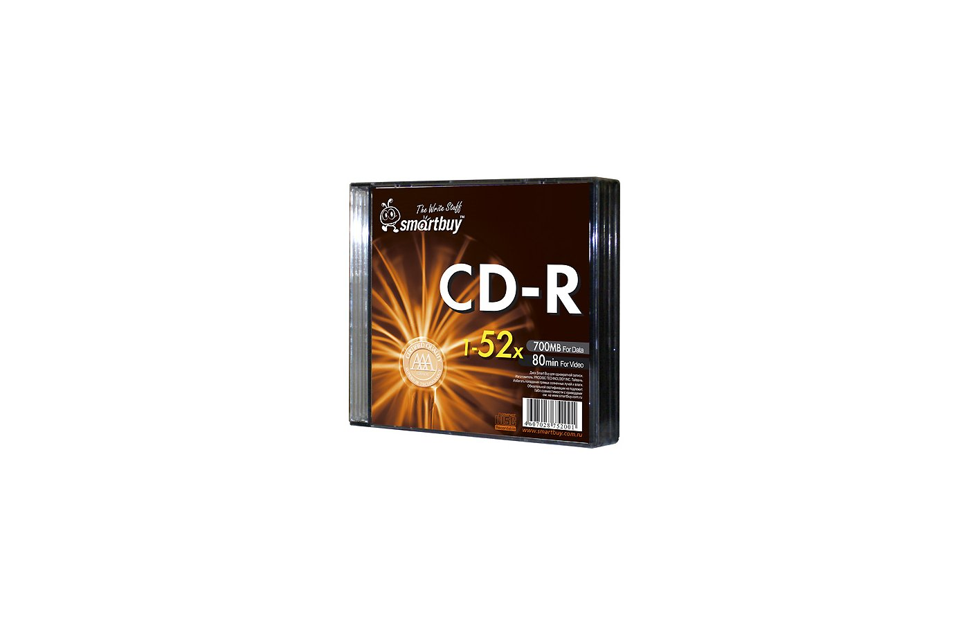 CD-диск Диск CD-R SMART BAY 80min 52x Fresh-Orange (за 1 диск)