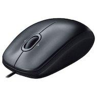 Мышь проводная Logitech M100 dark