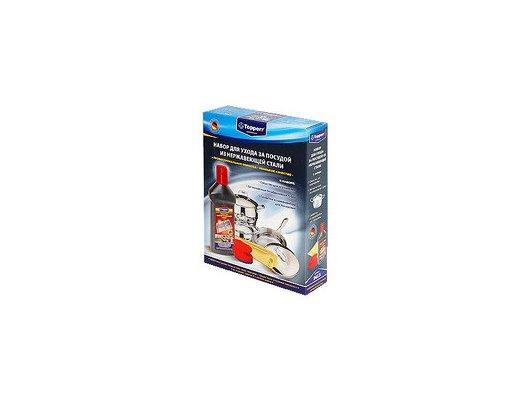Средсва по уходу за кухней TOPPERR 3413 набор для чистки и ухода за посудой из нерж.стали (нерж+губка+салфетка)