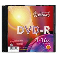 Фото DVD-диск Диск Smart Buy DVD-R 4.7Gb 16x Slim (за 1 диск)