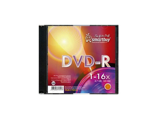 DVD-диск Диск Smart Buy DVD-R 4.7Gb 16x Slim (за 1 диск)