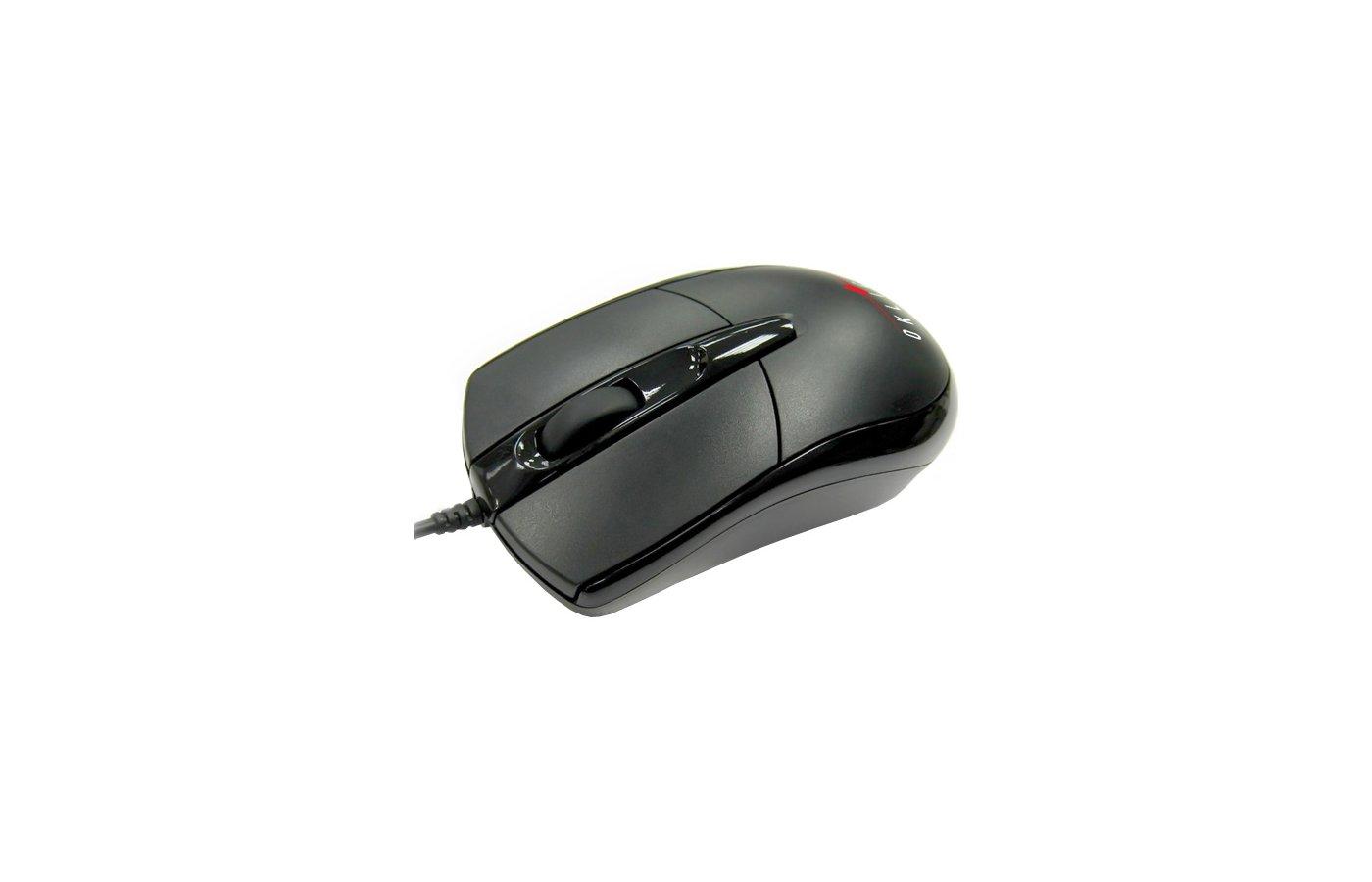 Мышь проводная Oklick 125M black optical (800dpi) USB