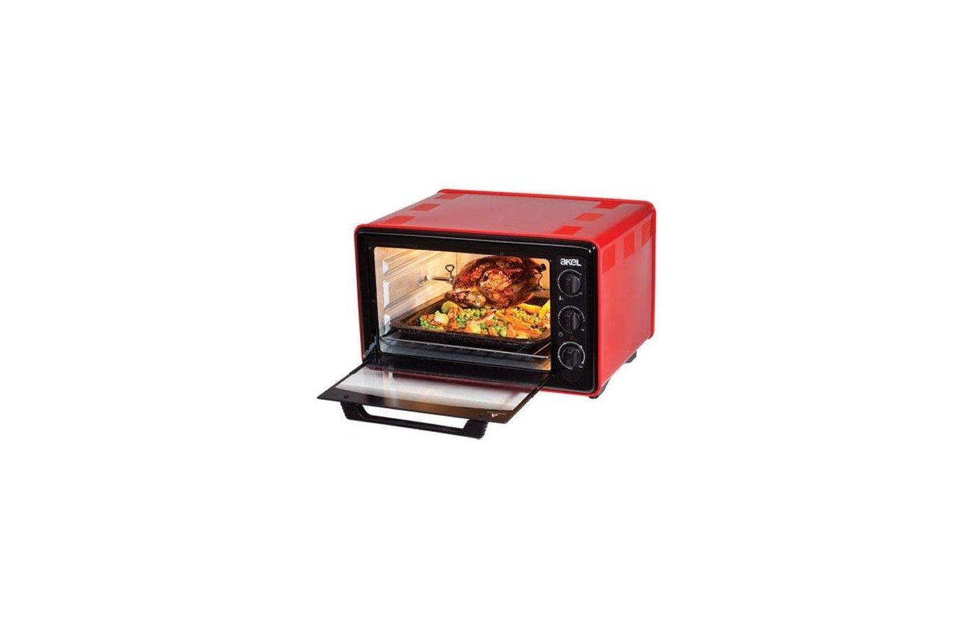 Электрическая мини-печь AKEL AF-740 красный 36л.