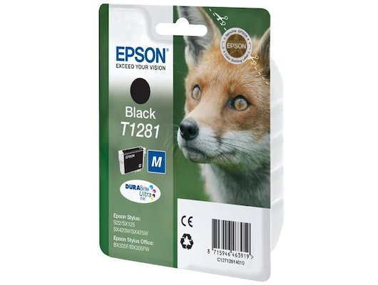Картридж струйный Epson C13T12814011 T1281 black для S22/SX125.