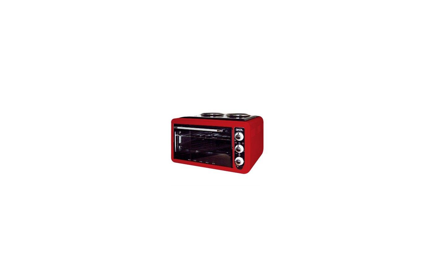 Электрическая мини-печь AKEL AF-752 красный 36л.