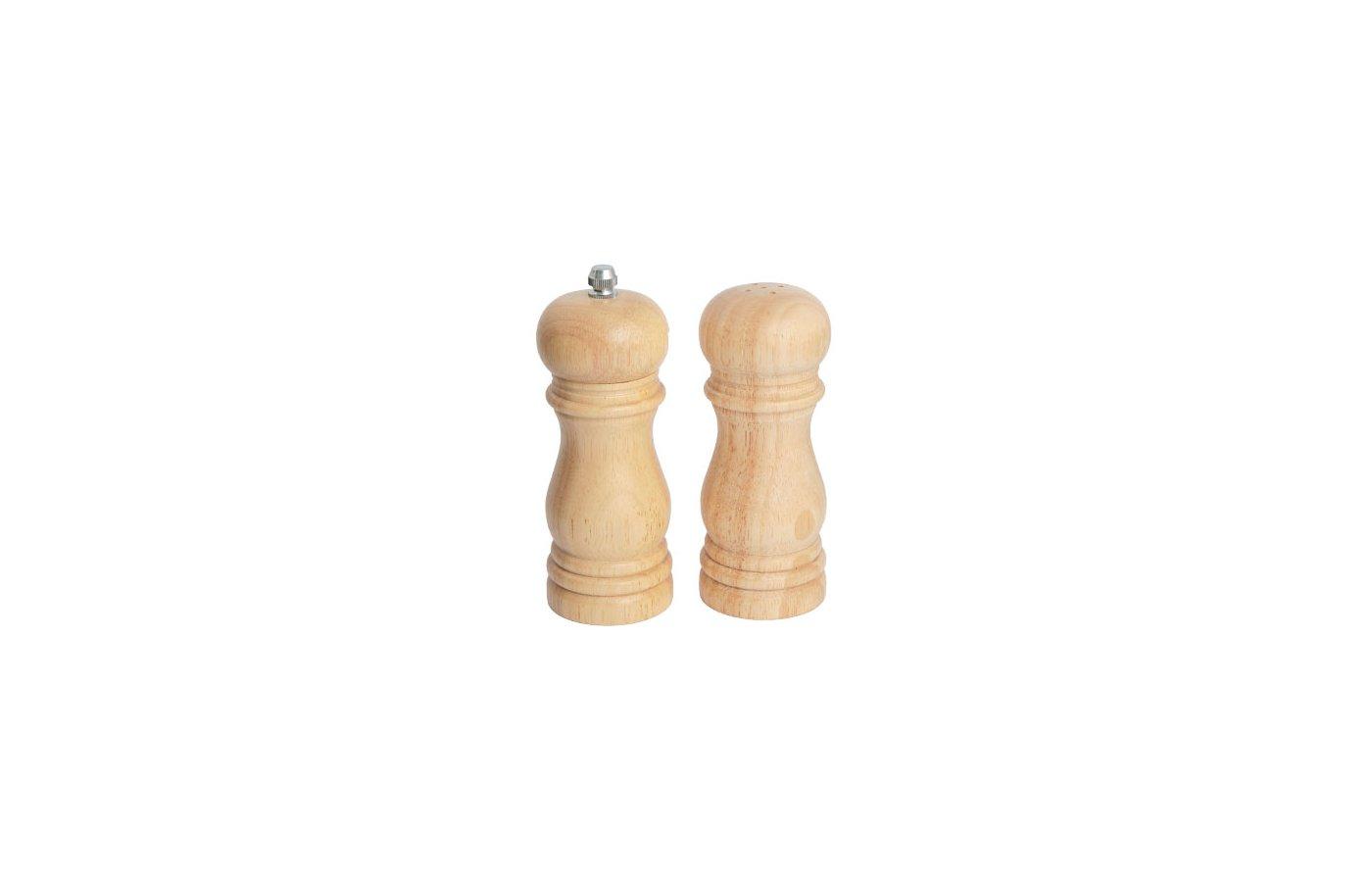 набор для специй VETTA 827-022 Набор для специй 2пр. мельница 16см + солонка 15см деревянный