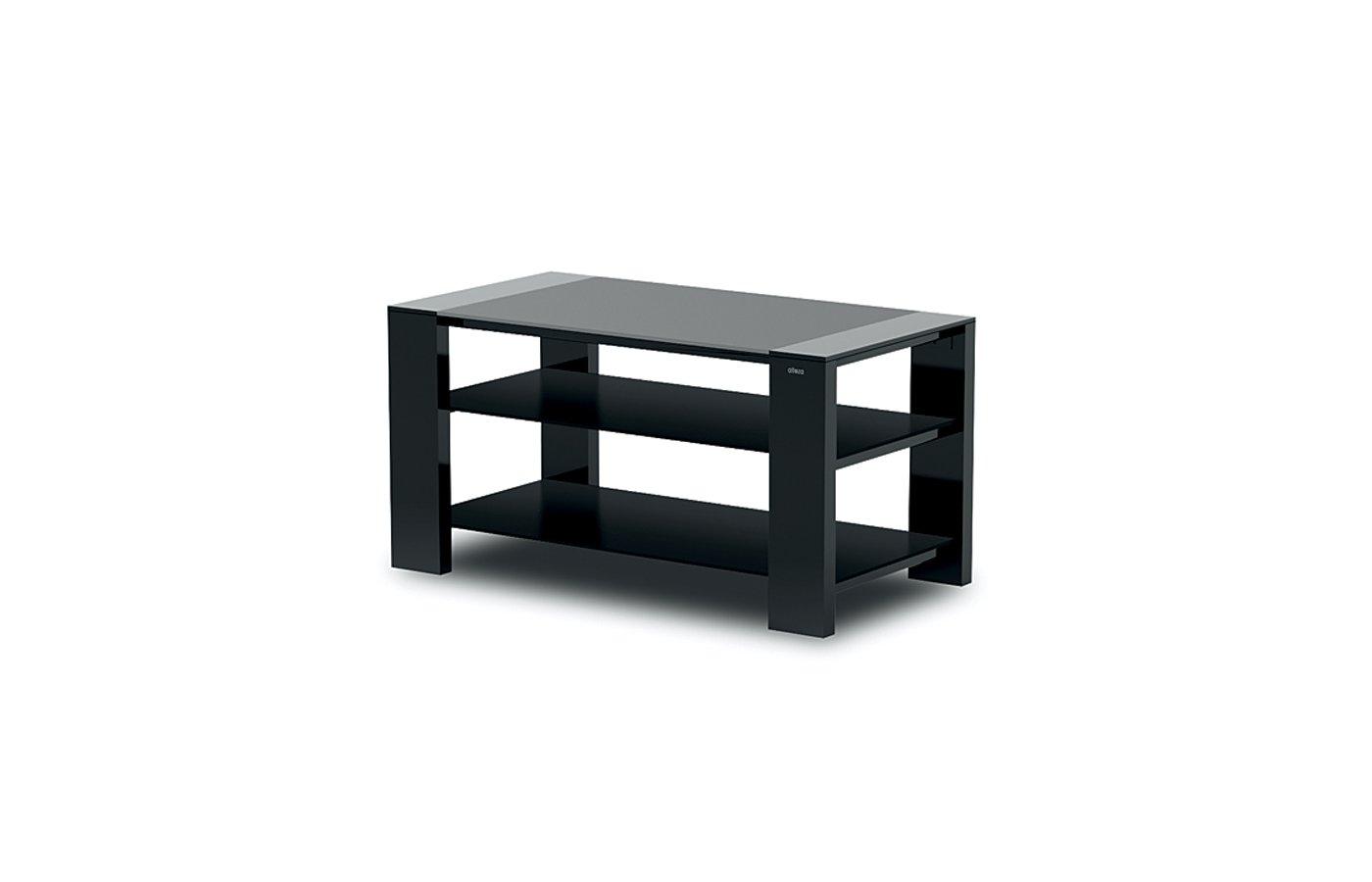 Телемебель Holder TV-2783 черный матовый+черн. стекло