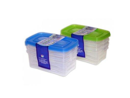 Пластиковая посуда для СВЧ ПОЛИМЕРБЫТ Комплект (3шт) д/СВЧ 1.0л. КАСКАД 2х20 57001/67001