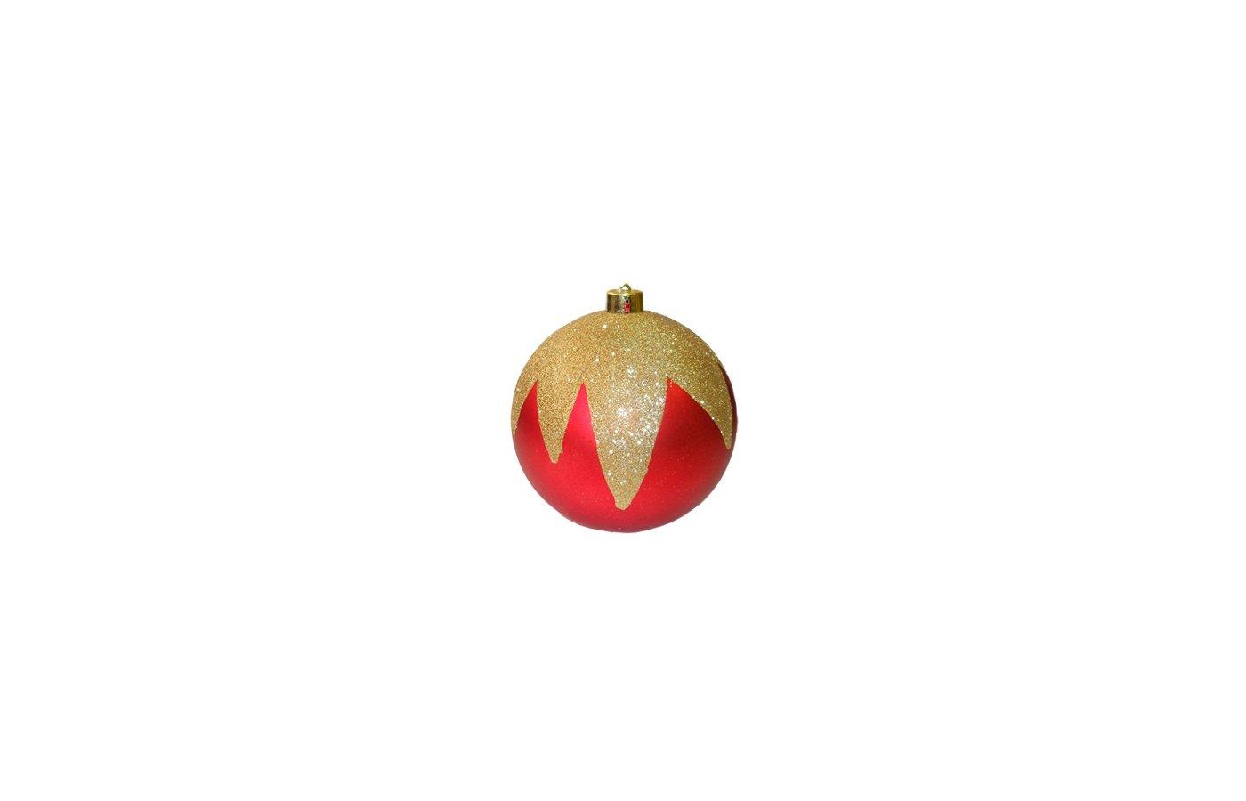 Игрушка Шар Сноу Бум с узором из глитера красн золото в асс-те 15см N3/15001BS66 378-143