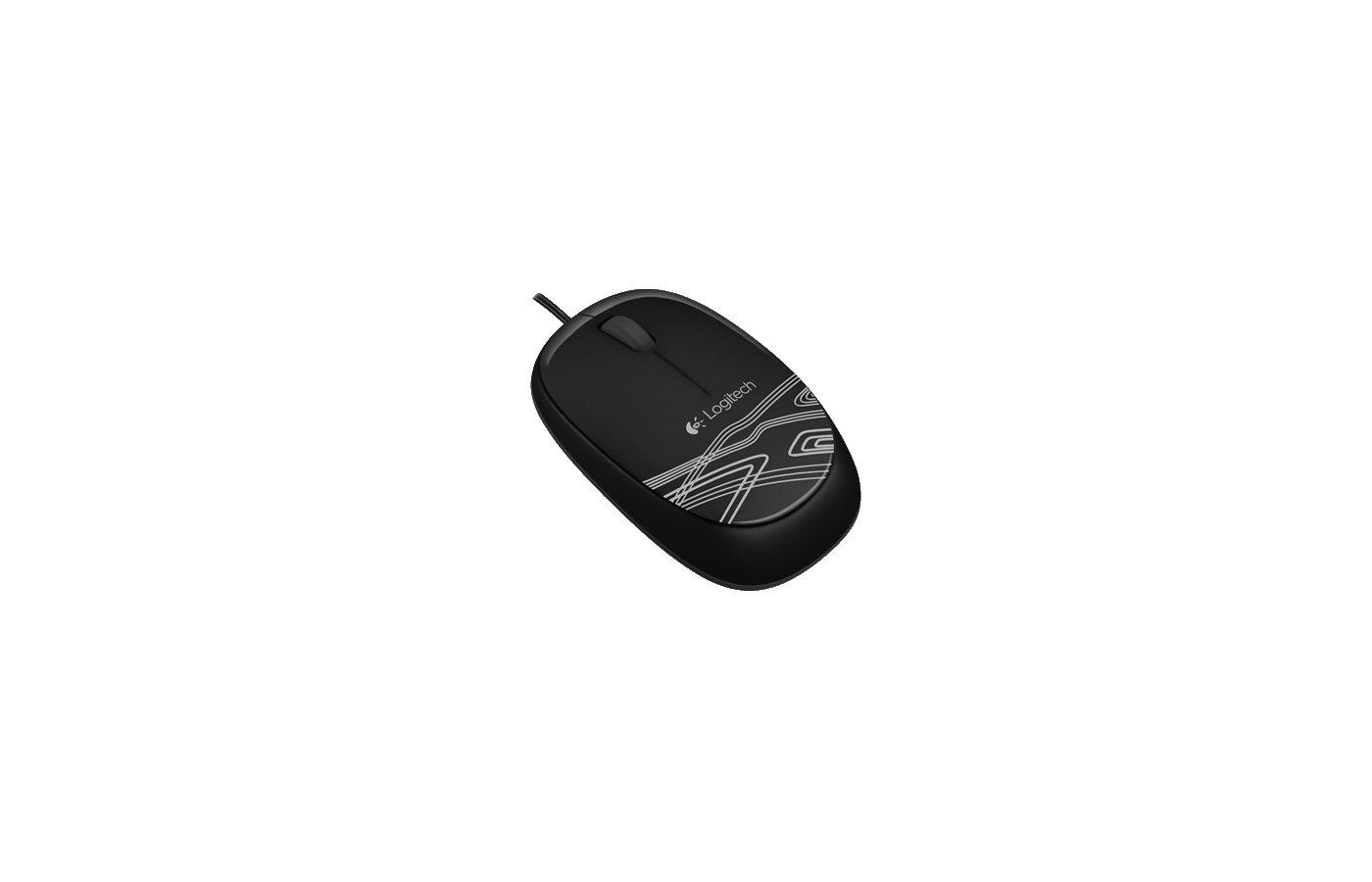 Мышь проводная Logitech M105 черный (910-003116)