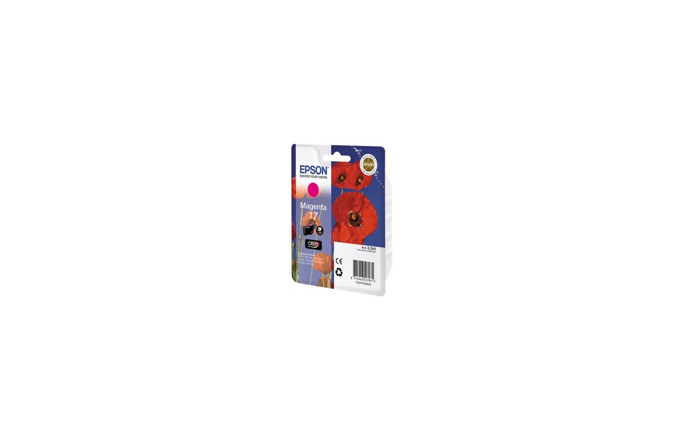 Картридж струйный Epson T17034A10 красный