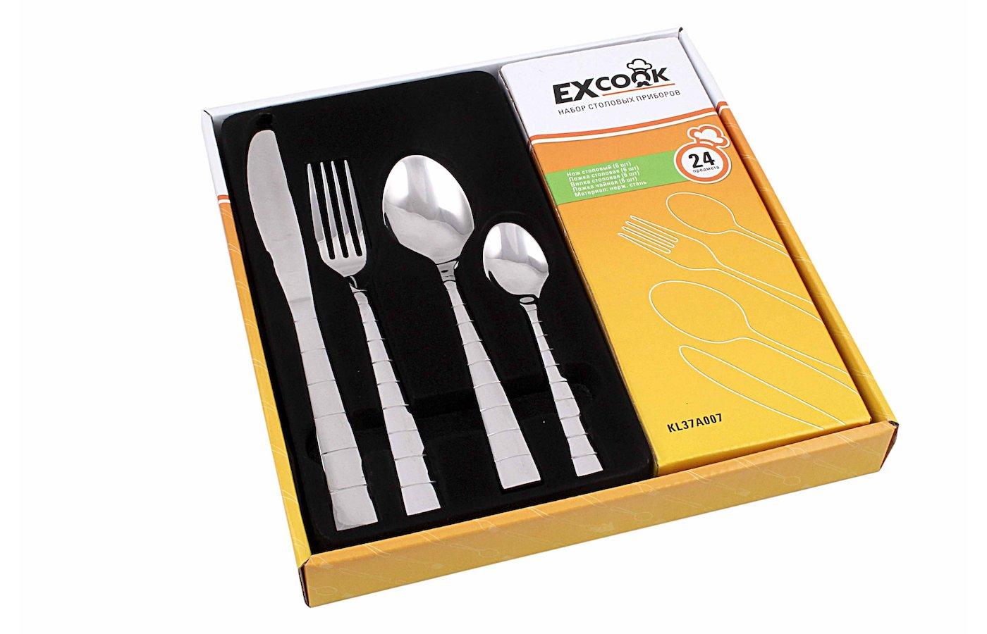 Набор столовых приборов EXCOOK KL37A007 24пр