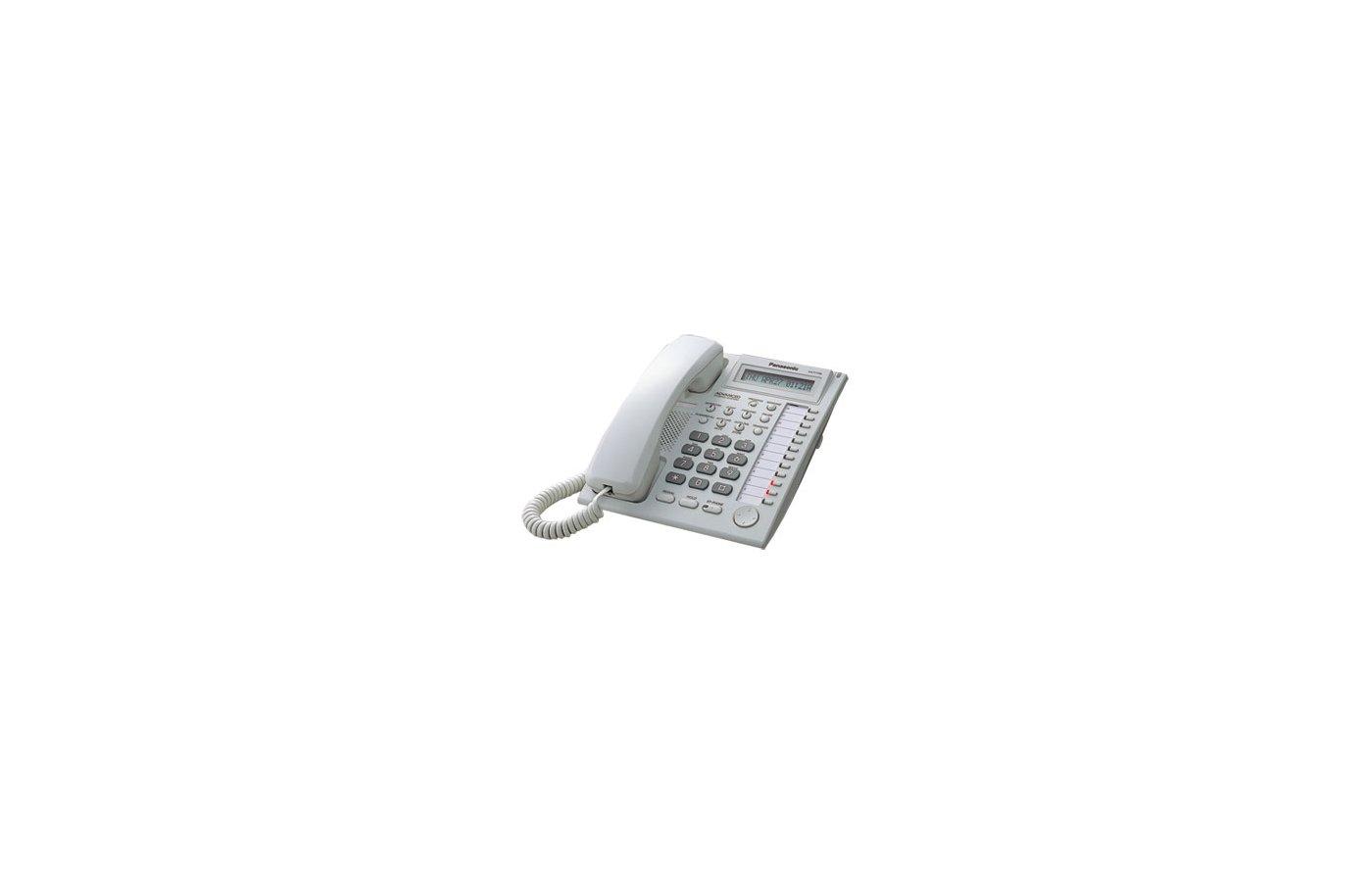 Проводной телефон PANASONIC KX-T7730 RUW системный телефон