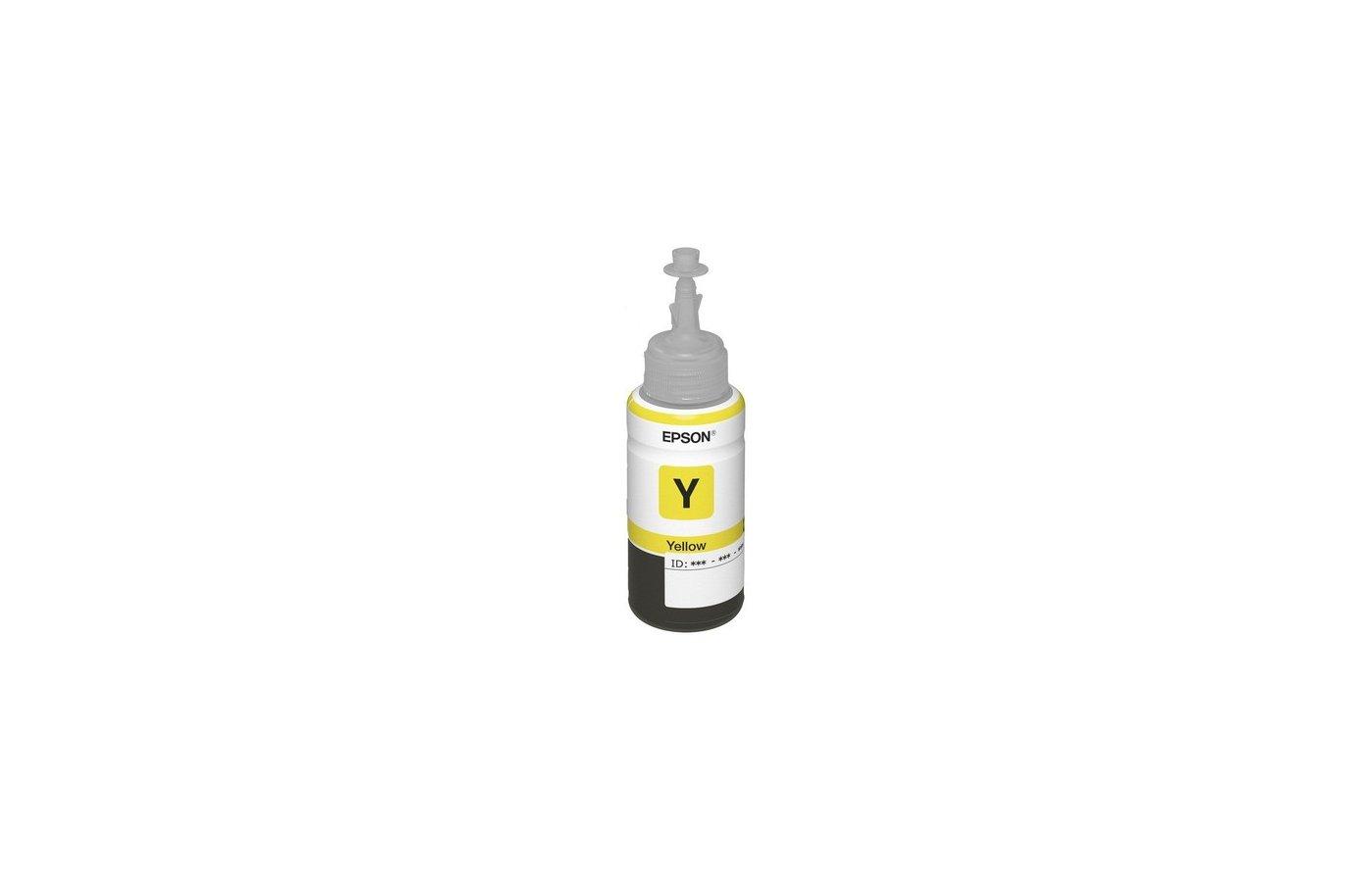 Картридж струйный Epson C13T66444A желтые чернила для L100/110
