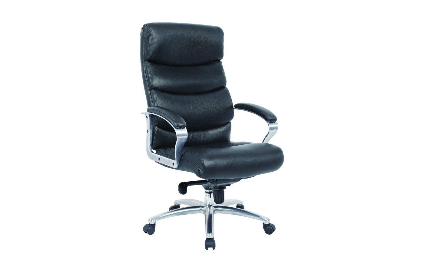 EXCOMP BY-6060 Кресло/кожа+кожзам/черный
