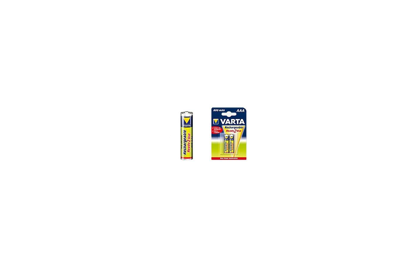 Аккумулятор VARTA Ready2Use AAA 800 BL2 (цена за блистер) (56703)