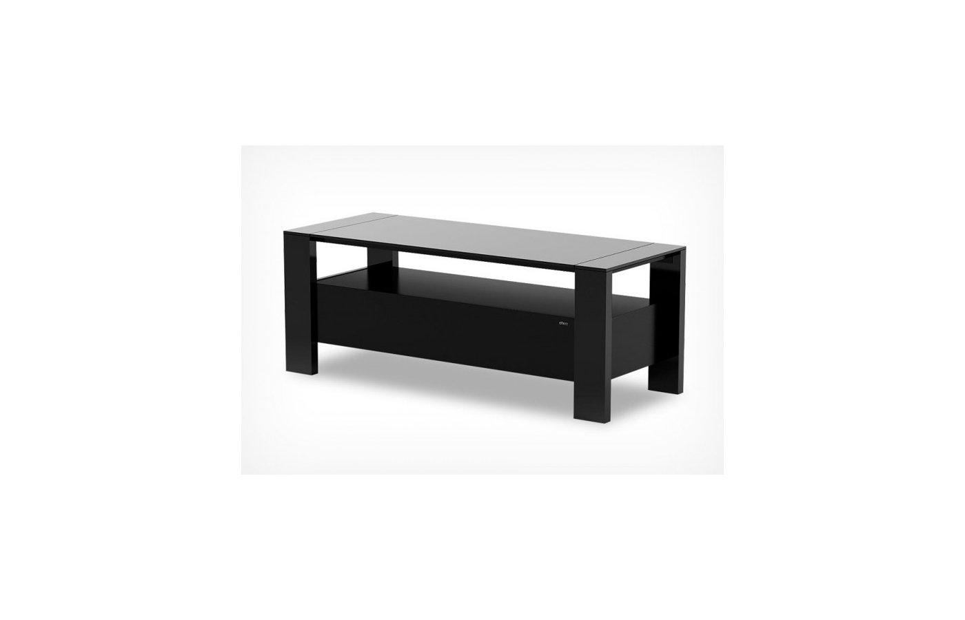 Телемебель Holder TV-28110 черный матовый+черное ст.