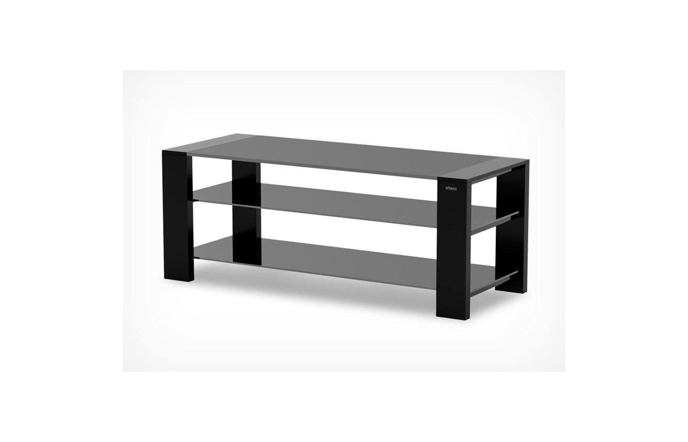 Телемебель Holder TV-27120 черный матовый+черн. стекло