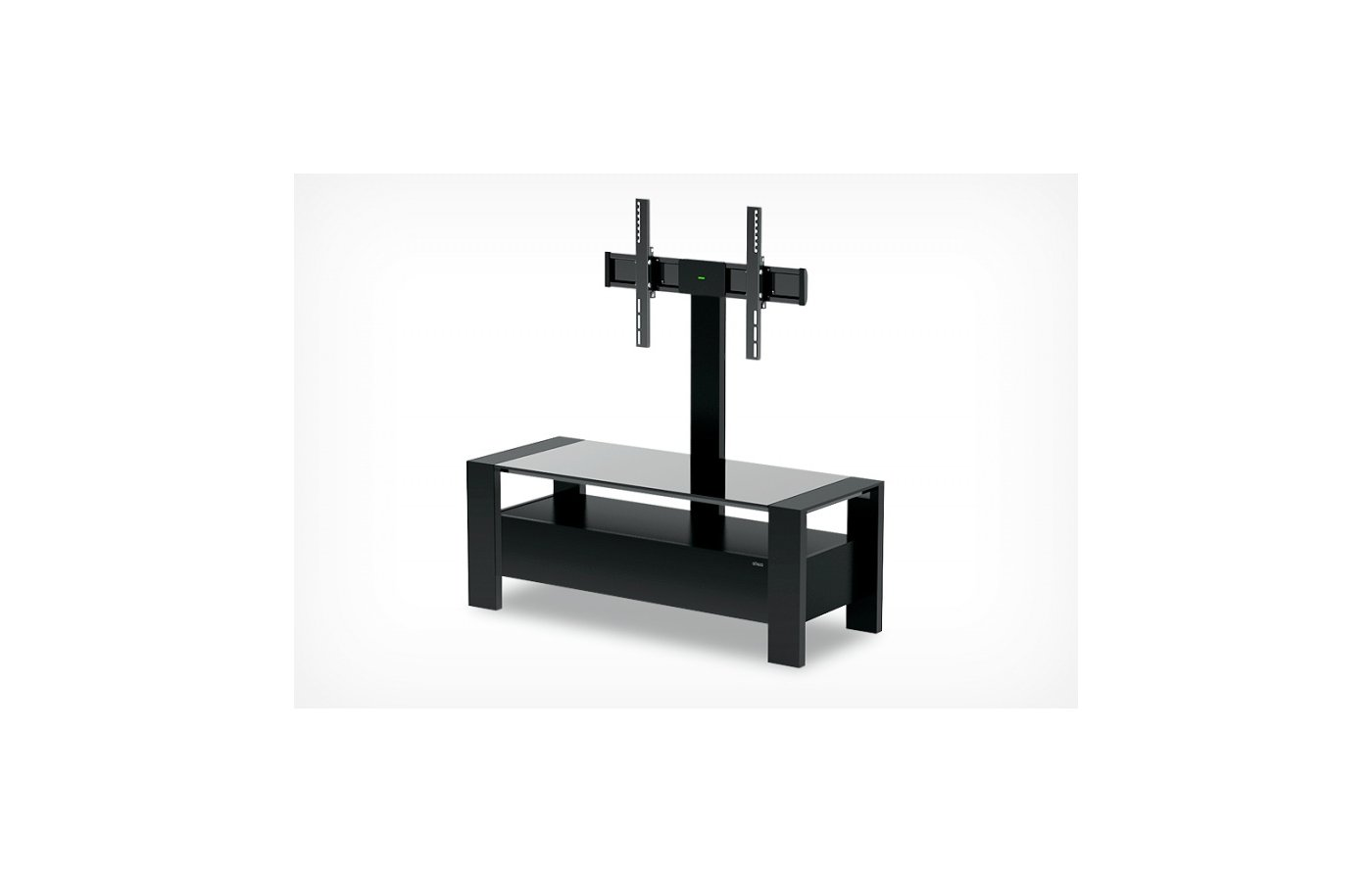 Телемебель Holder TV-34110 черный матовый+черное ст.
